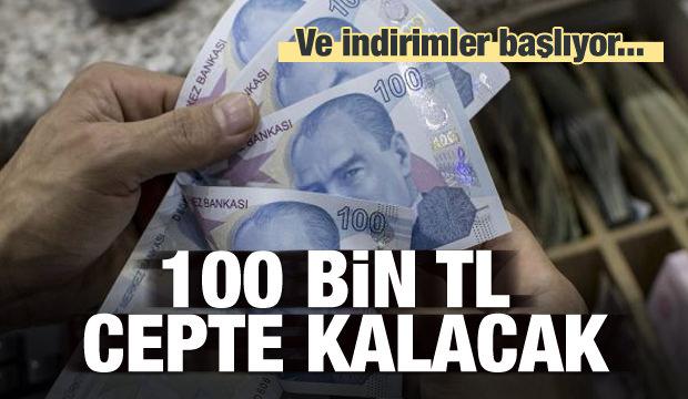 500 binde 100 bin TL cepte kalacak