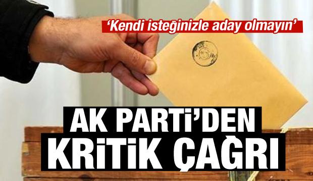 AK Parti'den kritik yerel seçim açıklaması