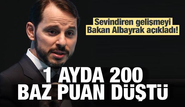 Bakan Albayrak: Bir ayda 200 baz puan düştü