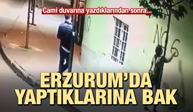 Dadaşlar diyarı Erzurum'da cami duvarına...