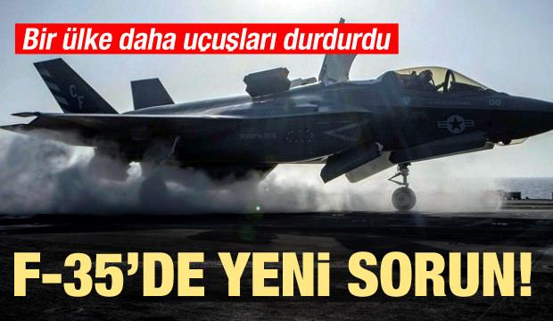 F-35'de yeni sorun! Bir ülke daha uçuşları durdurdu
