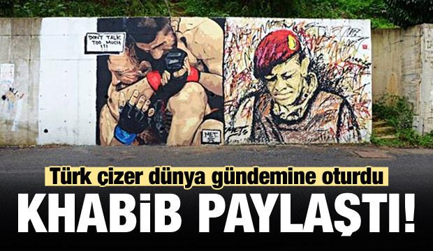 Khabib'in grafitisi Ömer Halisdemir'in yanında!