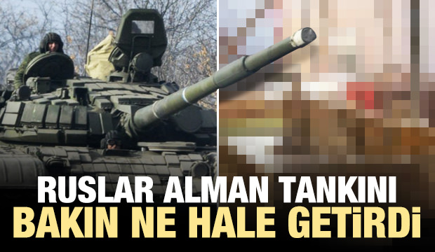 Ruslar Alman tankını bakın ne hale getirdi