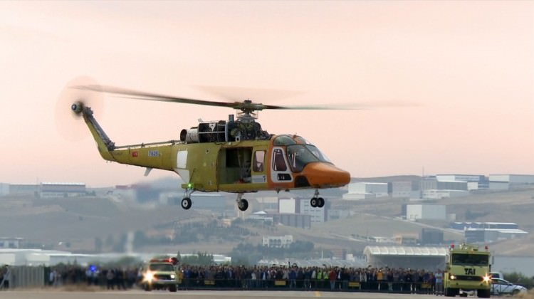 T625 Helikopteri'ne yerli TS1400 motoru