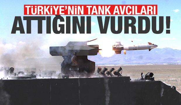 Türkiye'nin tank avcıları attığını vurdu