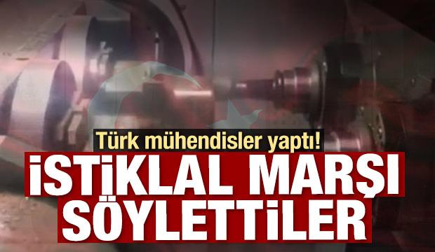 Türkler yaptı! İstiklal Marşı'nı söylediler