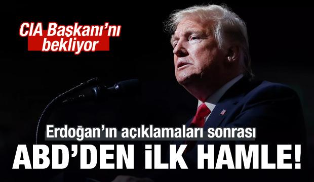 Erdoğan'ın açıklamaları sonrası ABD'den ilk adım