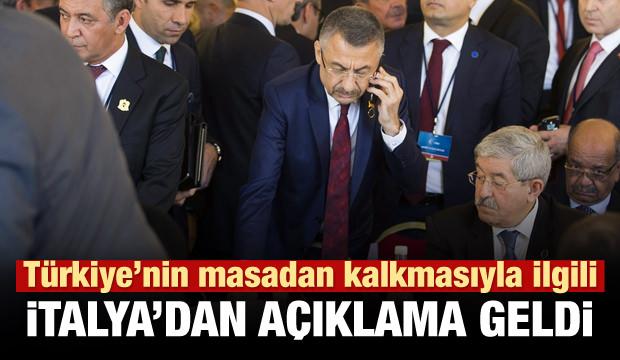 Ankara'nın çekilmesiyle ilgili İtalya'dan açıklama