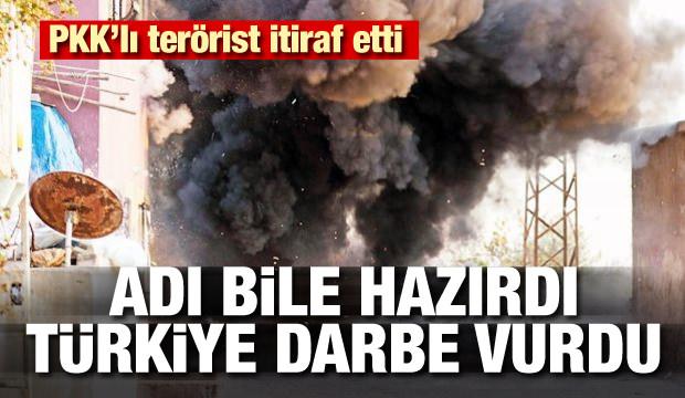 PKK'lı terörist itiraf etti: Adı bile hazırdı Türkiye darbe vurdu