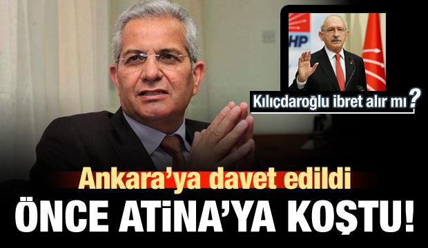 Ankara'ya davet edildi, önce Atina'ya koştu!