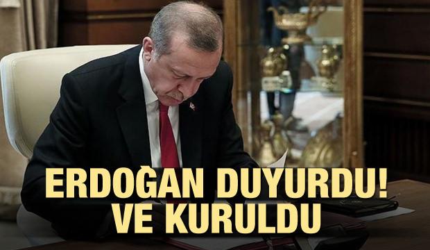 Erdoğan duyurdu! Ve kuruldu