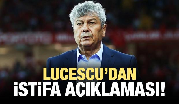 Lucescu istifa edecek mi? Açıkladı...