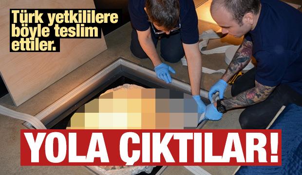Türk yetkililer böyle teslim aldı!