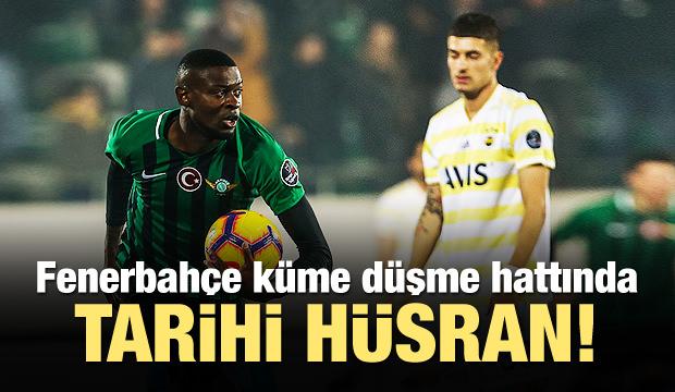 Fenerbahçe küme düşme hattında!