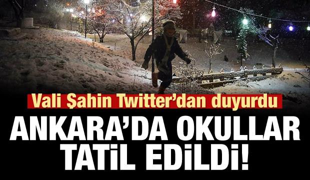 Ankara'da bugün okullar tatil!