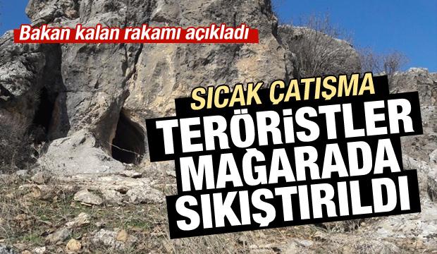 Bakan açıkladı: 6 terörist mağarada sıkıştırıldı