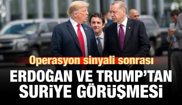 Başkan Erdoğan Trump'la görüştü