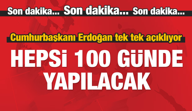 Cumhurbaşkanı Erdoğan: Yüzde 97'sini tamamladık