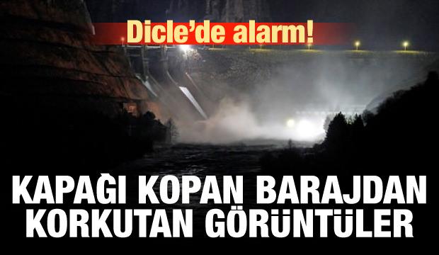Dicle Barajı'ndan korkutan görüntüler