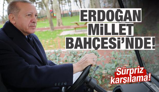 Erdoğan, 15 Temmuz Millet Bahçesi'ni gezdi