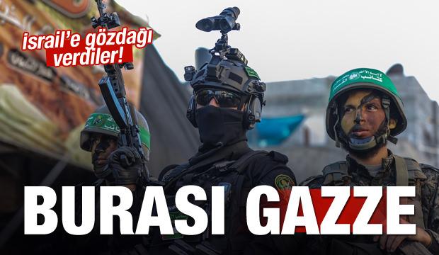 Gazze'de askeri geçit!