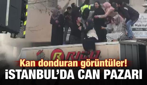 İstanbul'da can pazarı! Dehşet anları kamerada