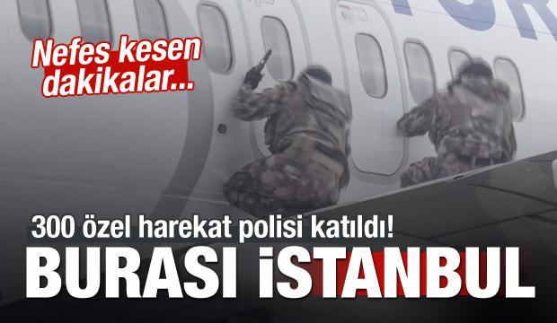 İstanbul'da nefes kesen dakikalar