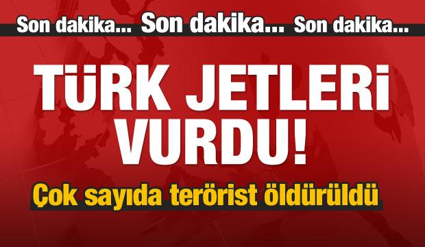 Jetlerimiz vurdu! Çok sayıda terörist öldürüldü