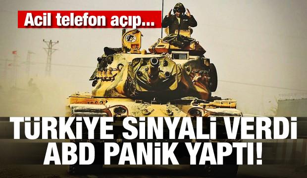 Türkiye sinyali verdi, ABD panik yaptı!