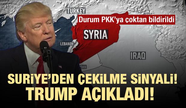 ABD Suriye'den tamamen çekiliyor! Trump'tan sinyal