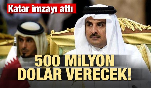Katar imzayı attı! 500 milyon dolar verecek