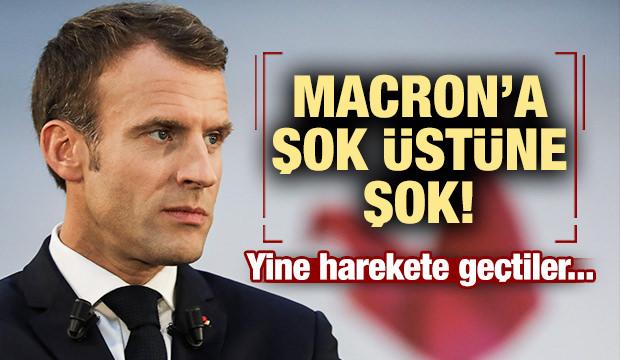 Macron'a şok üstüne şok! Yine harekete geçtiler