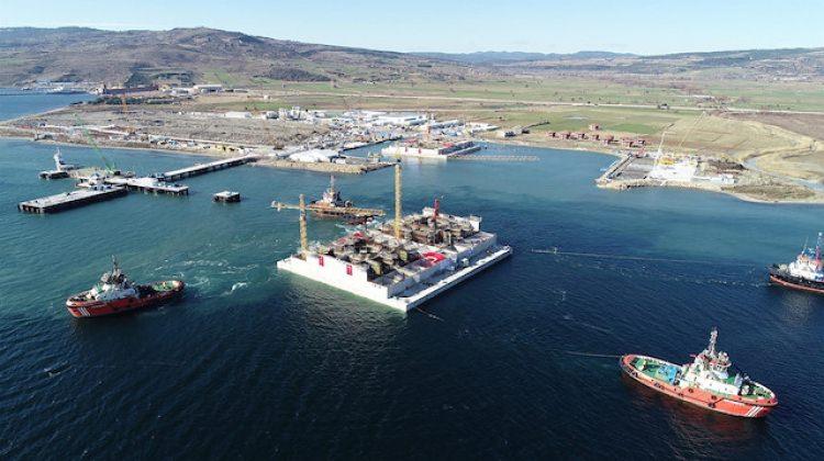 50 bin tonluk temel denizle buluşacak
