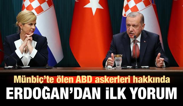 ABD askerlerinin ölümüne Erdoğan'dan ilk yorum