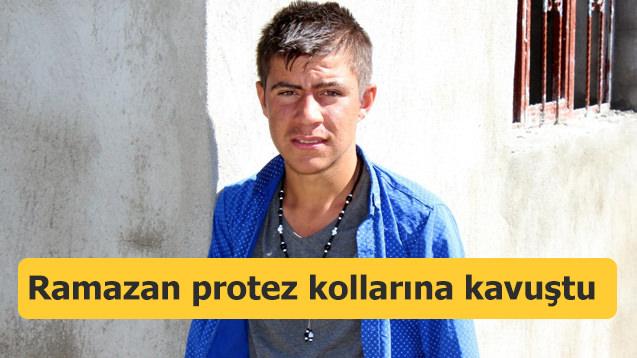 Ağrılı Ramazan protez kollarına kavuştu