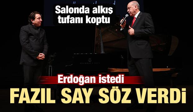 Başkan Erdoğan istedi Fazıl Say söz verdi