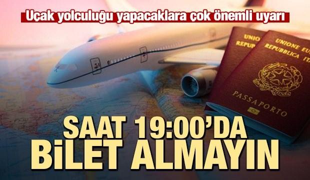 Skyscanner: Saat 19:00'da uçak bileti almayın