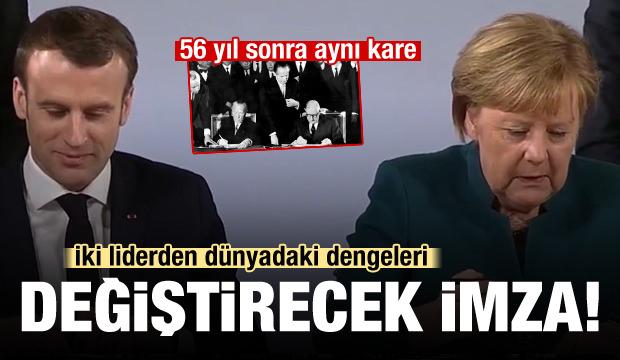 Merkel ve Macron'dan dünyadaki dengeleri değiştirecek imza!