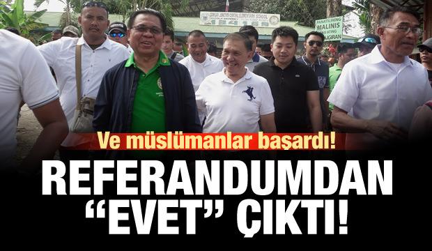Moro müslümanları başardı! Referandumdan 'Evet' çıktı!