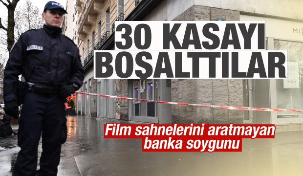 Paris'te film sahnelerini aratmayan banka soygunu