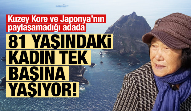81 yaşındaki kadın adada tek başına yaşıyor!