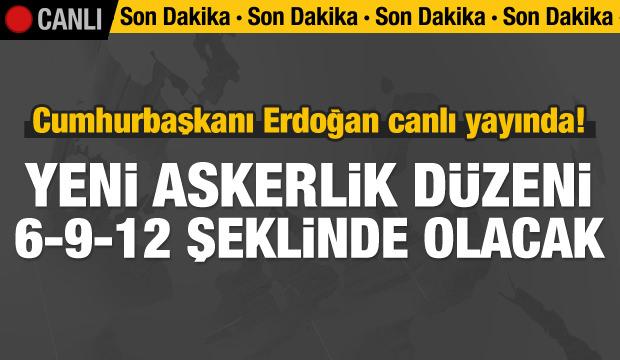 Cumhurbaşkanı Erdoğan canlı yayında!