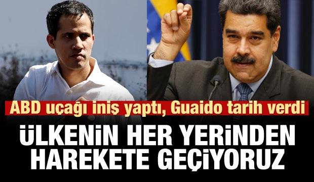 Guaido çağrı yaptı: Ülkenin her yerinden harekete geçiyoruz!