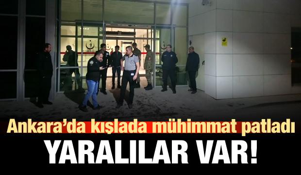 Ankara'da mühimmat patladı: Yaralılar var!