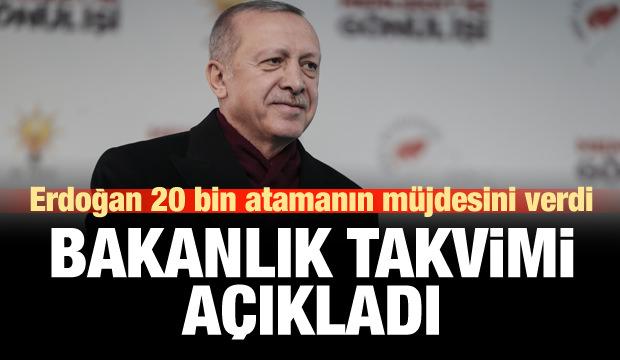 Cumhurbaşkanı Erdoğan'dan öğretmen adaylarına müjde!