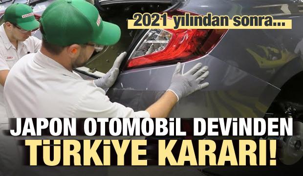 Japon otomobil devinden Türkiye kararı!