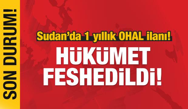 Ömer el-Beşir hükümeti feshetti! 1 yıl OHAL ilan etti!