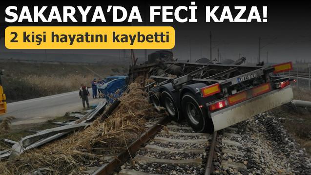 Sakarya'da feci kaza! 2 kişi öldü