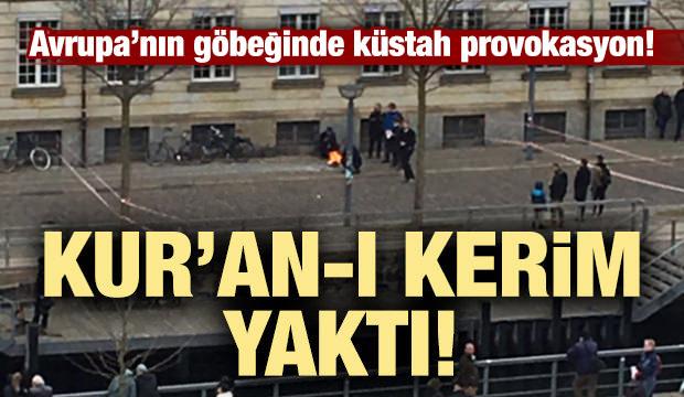 Avrupa'nın göbeğinde küstah provokasyon! Kur'an-ı Kerim yaktı