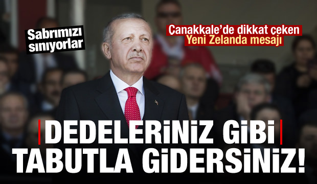 Cumhurbaşkanı Erdoğan: Dedeleriniz gibi tabutla gidersiniz